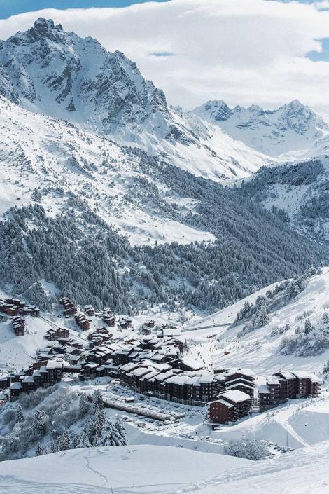 Paysage de montagne à Méribel Mottaret