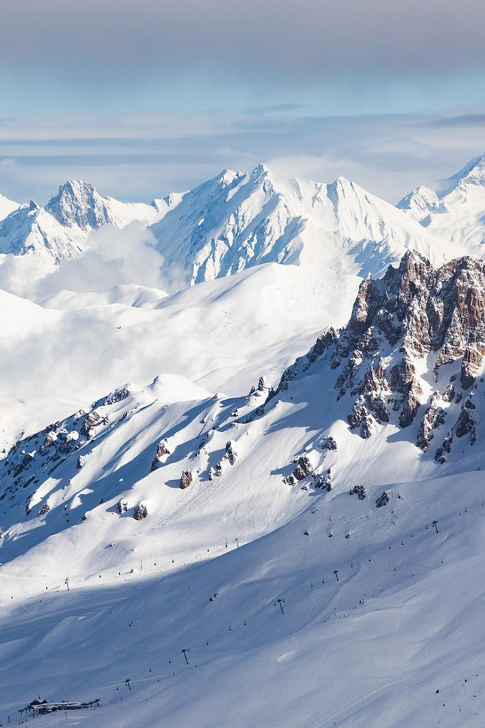 Des panoramas extraordinaires dans Les 3 Vallées
