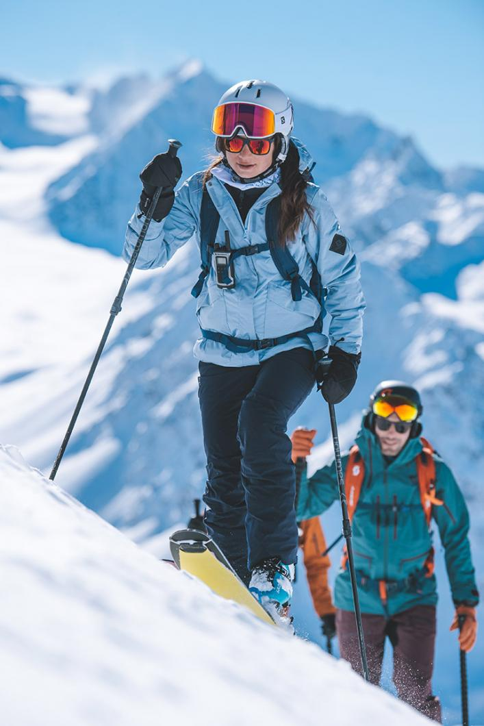 Ski touring in Méribel