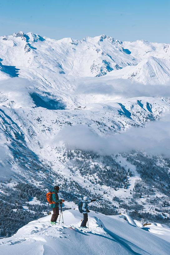A dusting of freshly fallen snow can usually provide an excellent day in Les 3 Vallées