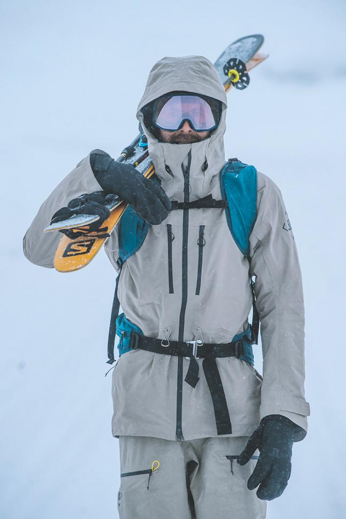 Ski freeride à Méribel, La Loze